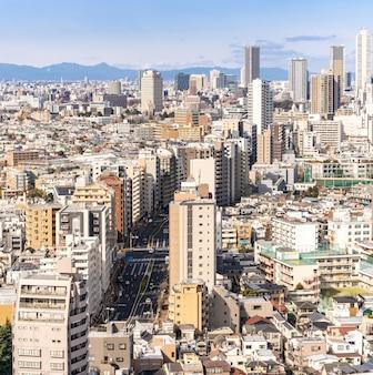 Vista aerea tokyo skyscrapers shinjuku.