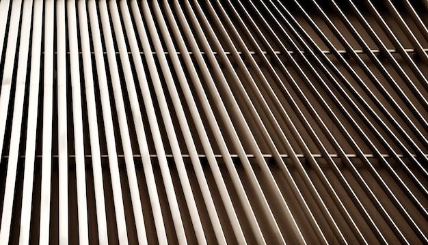 Vista astratta del primo piano di rame moderno arieggiato su costruzione