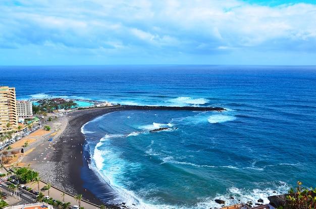 Vista dal mirador de la paz, puerto de la cruz, tenerife, isole canarie