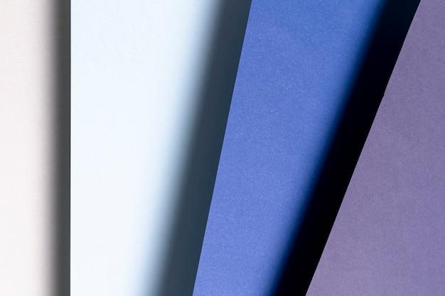 Vista dall'alto con diverse tonalità di blu close-up