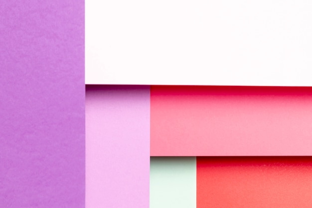 Vista dall'alto con diverse tonalità di colori