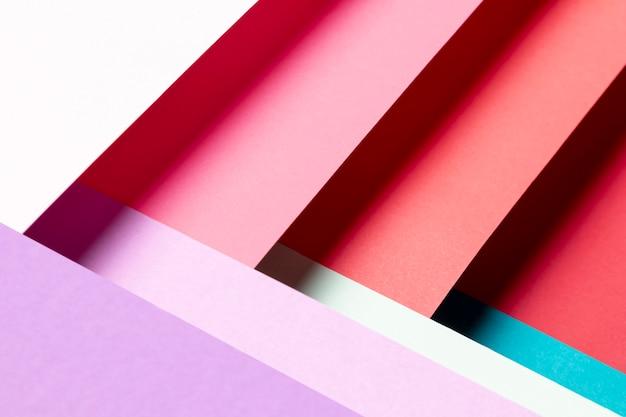 Vista dall'alto con diversi colori di primo piano