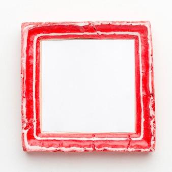 Vista dall'alto del concetto di cornice rossa con spazio di copia