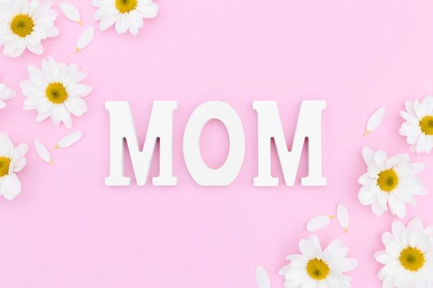 Vista dall'alto del concetto di festa della mamma