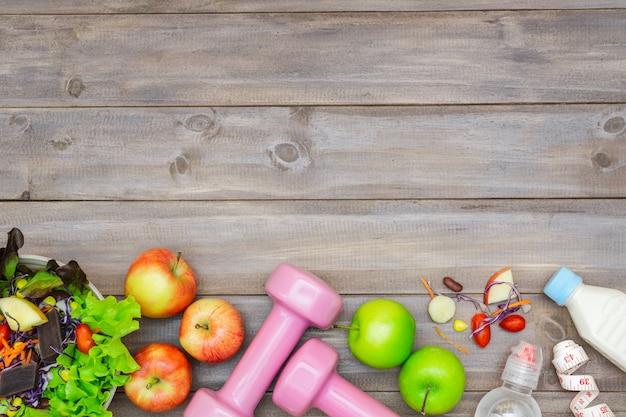 Vista dall'alto del concetto di stile di vita sano