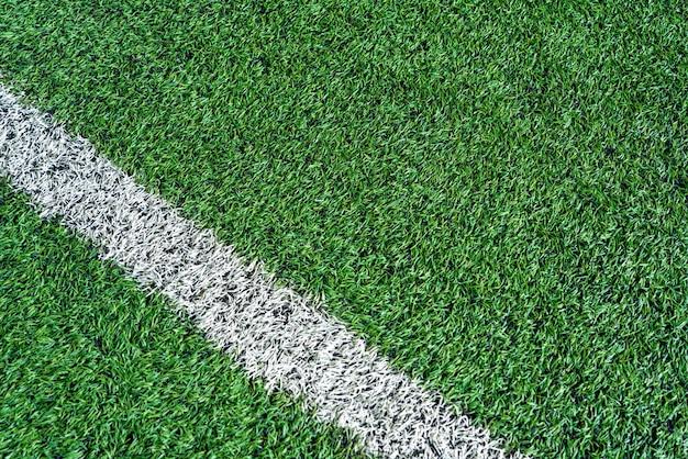 Vista dall'alto del tappeto erboso artificiale