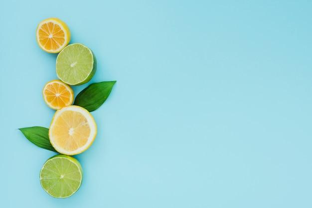 Vista dall'alto della linea di limone