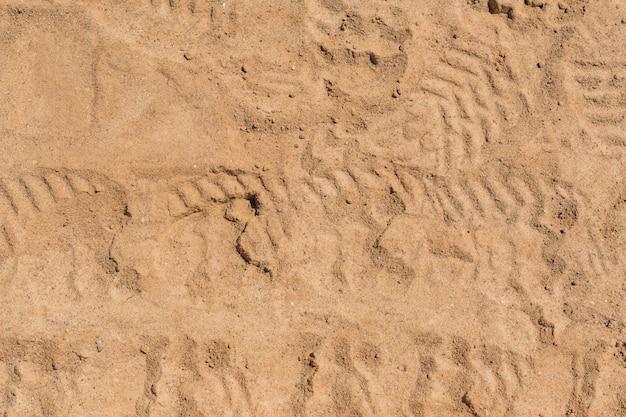 Vista dall'alto della superficie della sabbia per lo sfondo