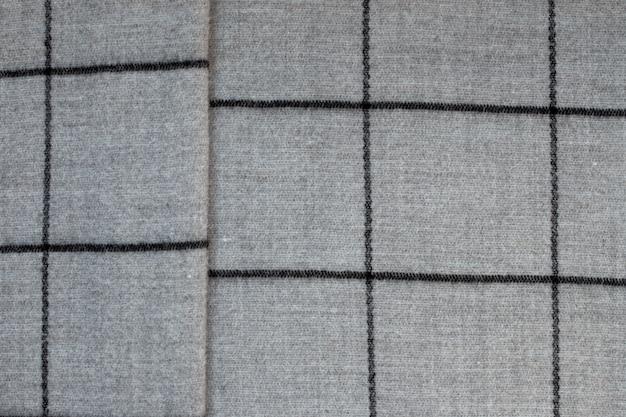 Vista dall'alto della trama di tessuto grigio in una grande gabbia