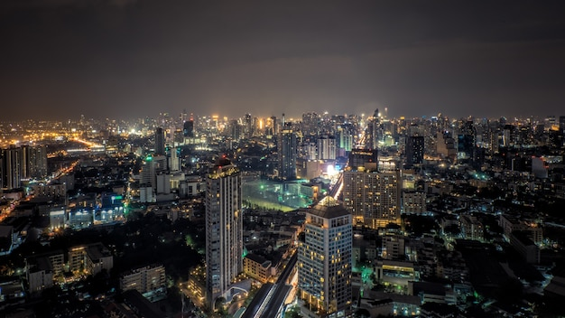 Vista dall'alto di bangkok, capitale della thailandia