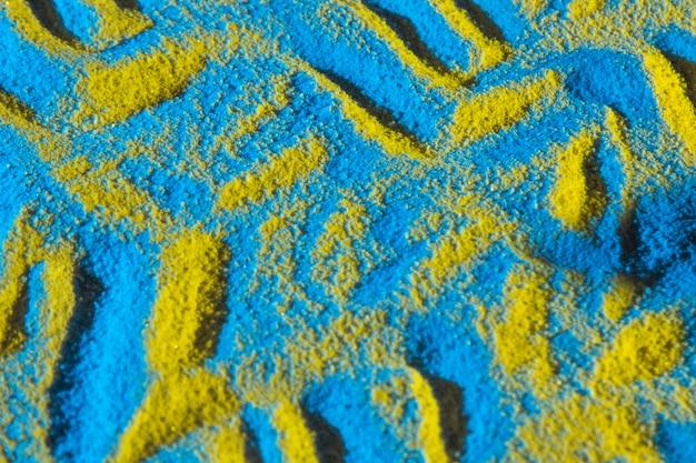 Vista dall'alto di piccole dune
