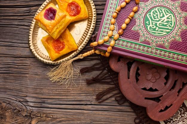Vista dall'alto dolci islamici di capodanno