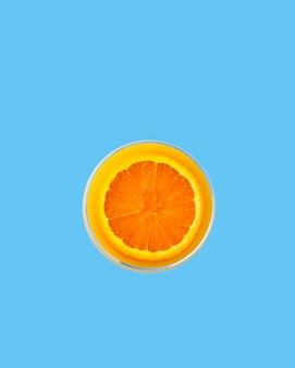 Vista dall'alto mezza arancia