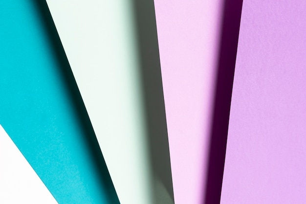 Vista dall'alto motivo blu e viola