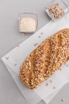 Vista dall'alto semi di pane