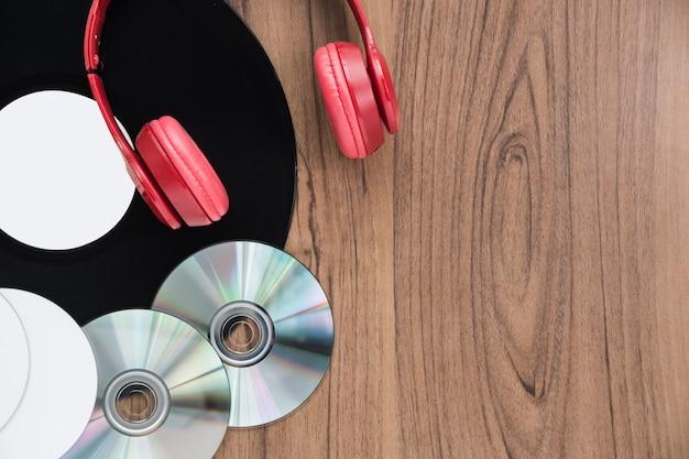 Vista dall'alto set di musica dvd