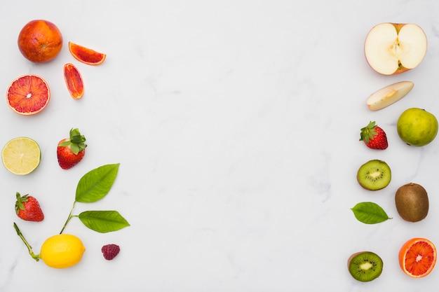 Vista dall'alto sulla linea dei frutti
