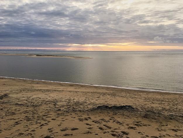 Vista dalla duna di pyla, la più alta d'europa, in francia