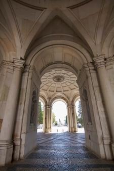 Vista del bellissimo palazzo ajuda situato a lisbona, in portogallo.