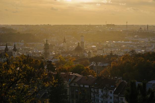 Vista del centro della città di leopoli
