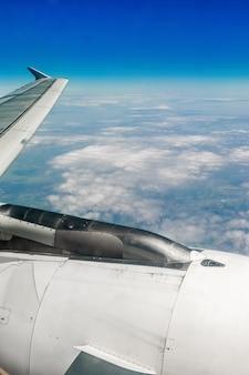 Vista del cielo dall'aereo