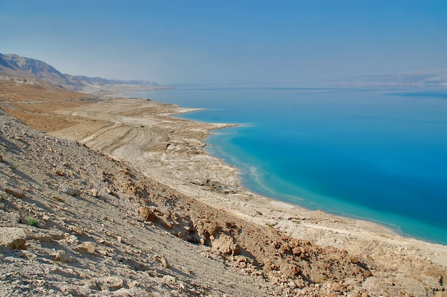 Vista del mar morto in israele