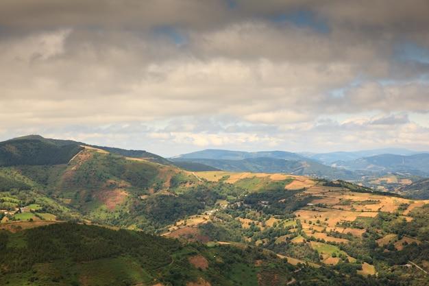 Vista del paesaggio della galizia