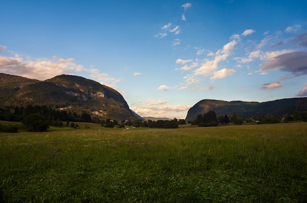 Vista del paesaggio sloveno, slovenia