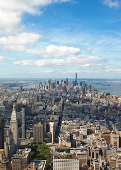 Vista del paesaggio urbano di manhattan, new york city.