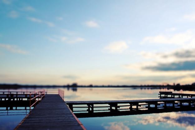 Vista del ponte al tramonto