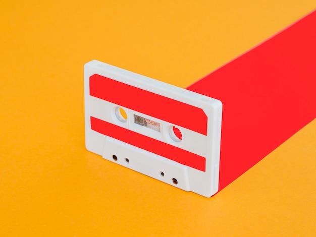 Vista del primo piano del concetto di musica di casette