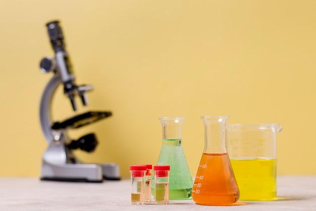 Vista del primo piano del concetto di scienza