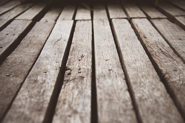 Vista del primo piano delle superfici di parete di legno per fondo e pavimenti di legno antichi