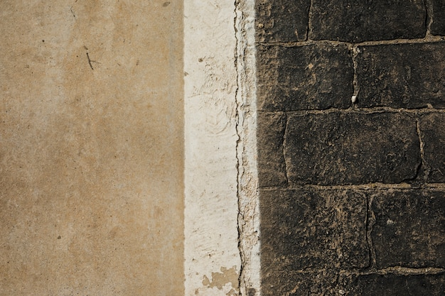 Vista del vecchio muro di pietra