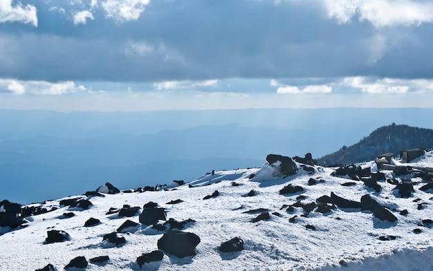 Vista del vulcano etna.