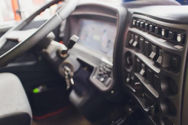Vista dell'interno di una pattumiera del camion.