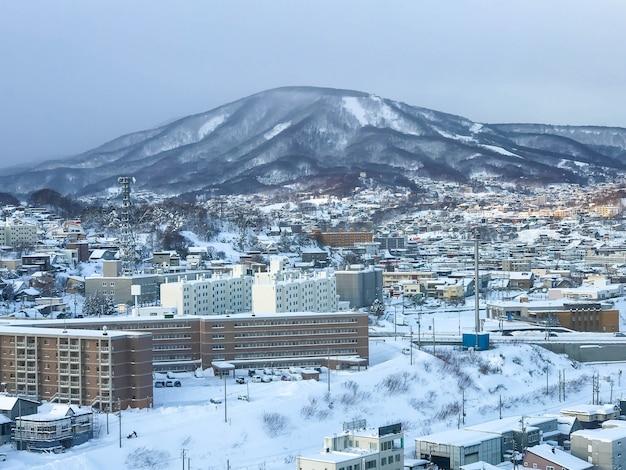 Vista della città di otaru, hokkaido giappone