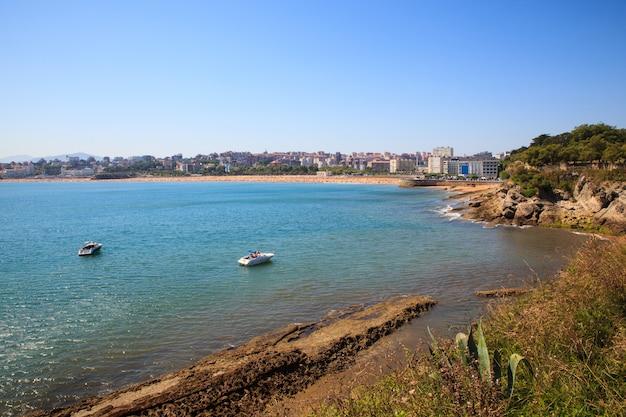 Vista della costa di santander