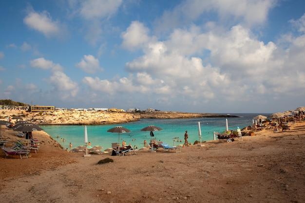 Vista della spiaggia di porto ntoni, lampedusa