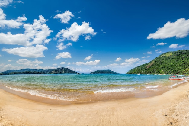 Vista della spiaggia