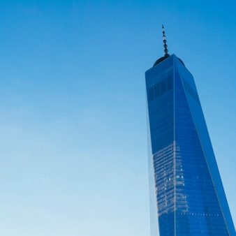 Vista della torre del one world trade center