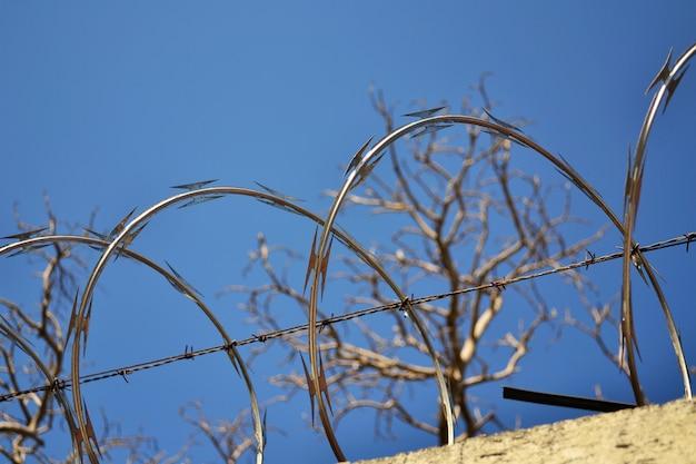 Vista di filo spinato