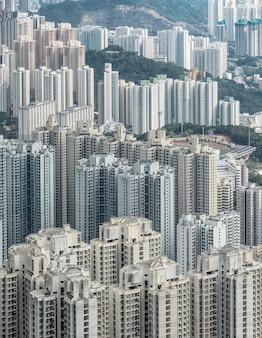 Vista di kowloon dalla collina di lion rock