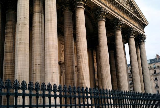Vista di patheon a parigi francia