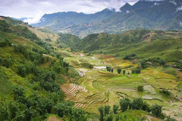 Vista di sapa, vietnam