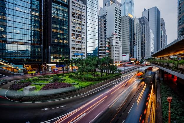 Vista di traffico di hong kong