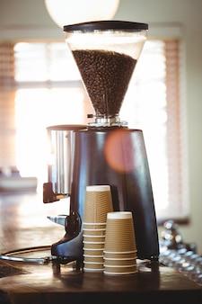 Vista di una macchina da caffè