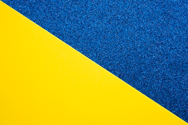Vista elevata del doppio sfondo colorato