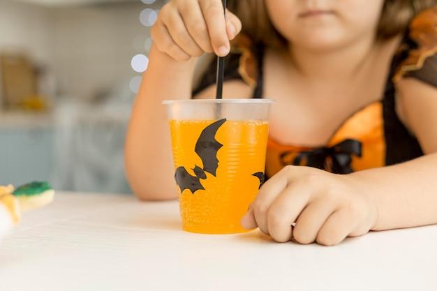 Vista frontale del concetto di tema di halloween