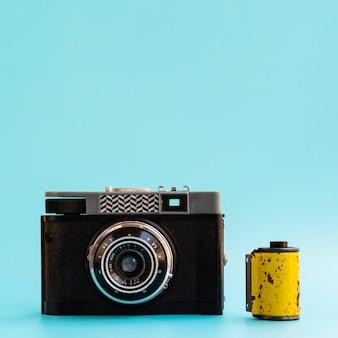 Vista frontale del dispositivo elettronico della fotocamera